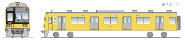 「黄色い6000系電車」のイメージ図