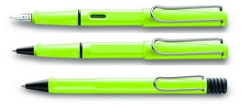 (上から)万年筆、ローラーボール、ボールペン