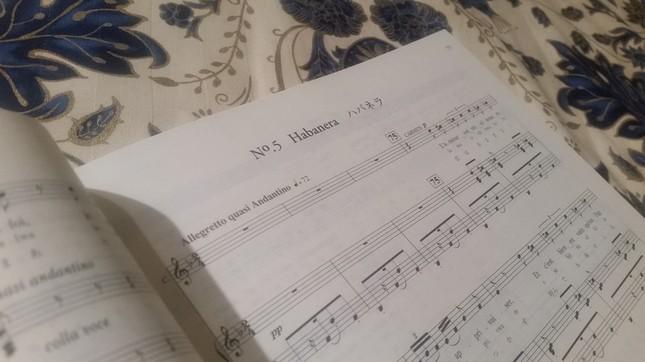 問題のハバネラの楽譜