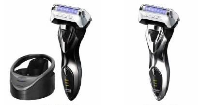 「RM-LX2D」(左)には「LED光乾燥器」付属 洗浄剤不要で外内刃を清潔に