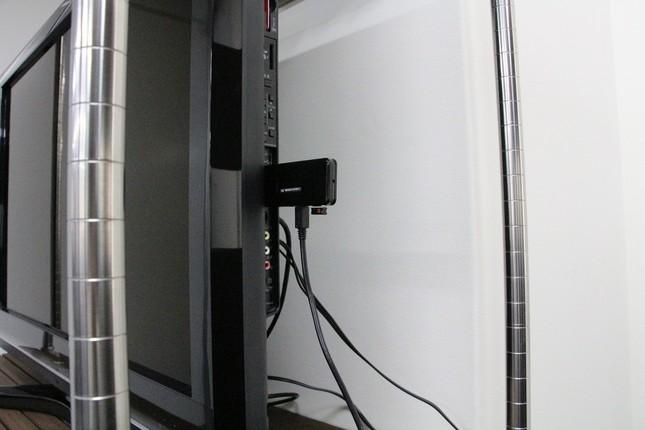 テレビのHDMI端子に挿入