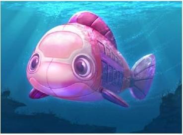 ストーリーに登場する潜水艦 (C)Disney/Pixer