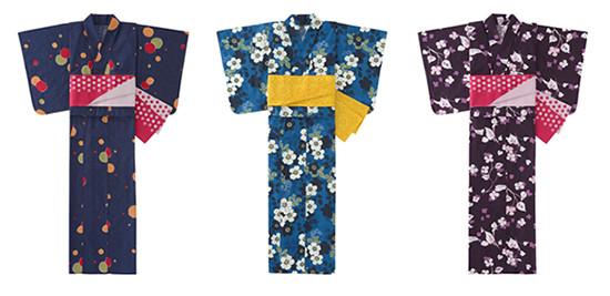 竹久夢二の作品からインスパイアされデザインした浴衣