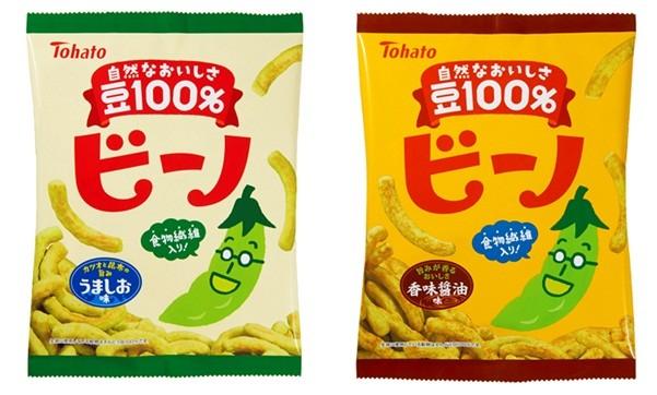 リニューアル発売の「うましお味」(左)と新発売の「香味醤油味」
