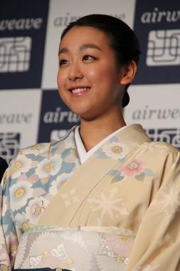 風情ある着物姿で出席した浅田さん
