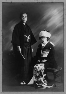 父・中島博司と母・キヨの結婚写真