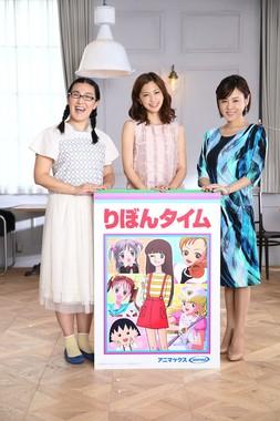 (左から)白鳥久美子さん、安田美沙子さん、高橋真麻さん