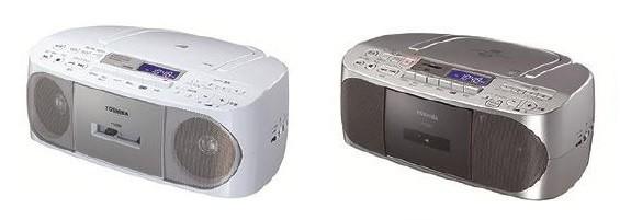 「お好み選局」や「おやすみタイマー」などの便利な機能も搭載(写真は、左が「TY‐CDS7」ピンク、右が「TY‐CDX7」シルバー)