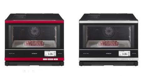 「明るい庫内」で、調理中の食材のようすが見やすい!(写真は、「ヘルシーシェフMRO‐RY3000」左がメタリックレッド、右がシルバー)