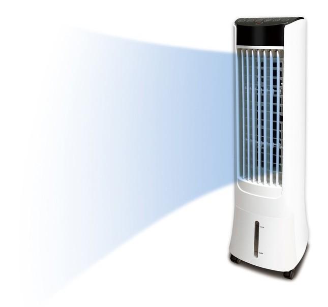 デザインも電気代もスリムな冷風扇