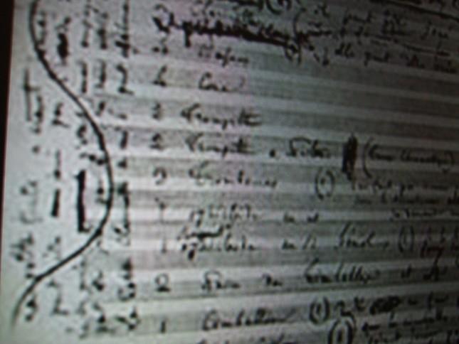 幻想交響曲の総譜の扉ページ