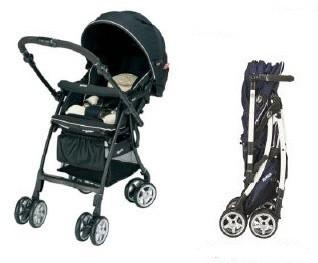 オート4輪でコンパクト。赤ちゃんとママのため、機能もデザインも追求!