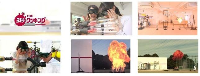 ドコモの動画「3秒クッキング」シリーズは、撮影のため大掛かりな調理装置が開発・製作された