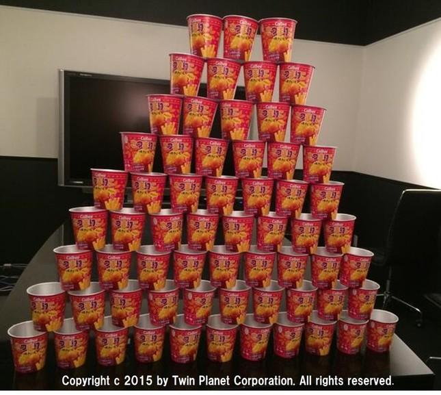 こちら「さつまりこ」のピラミッド。次は、タピオカりこ? 焼肉りこ?