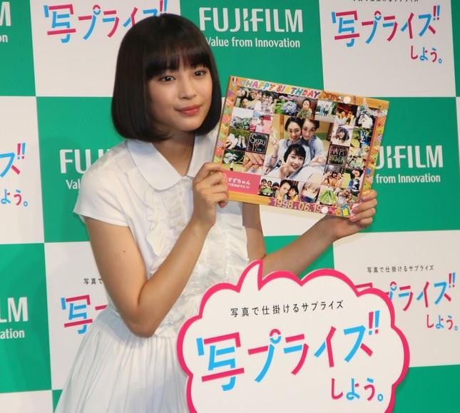 広瀬すずさんが富士フイルムPRイベントに出席