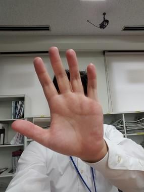 「手のひら」でシャッターを切る
