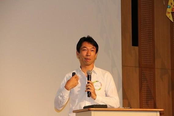 秋山浩保柏市長は「柏市の教育の取り組み」について語った