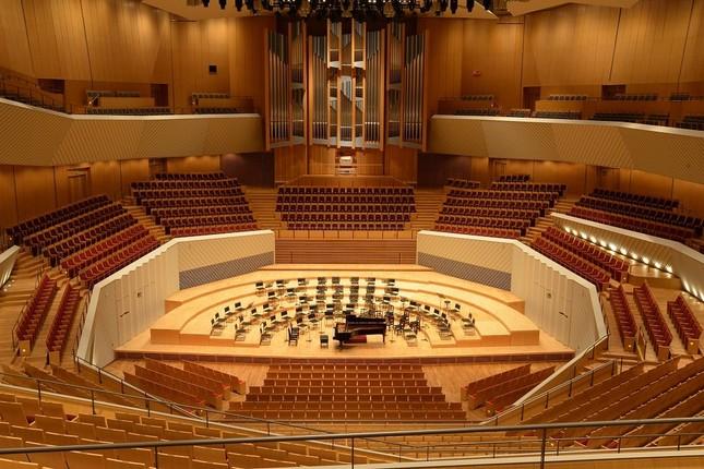 ステージを客席が取り囲む構造