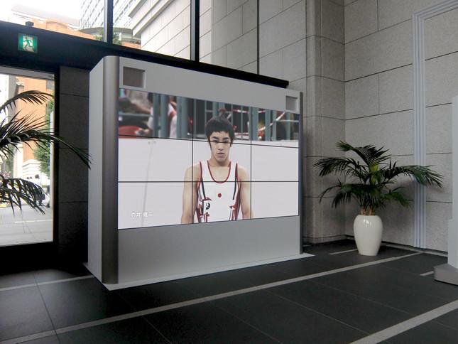 大型ビジョンでは、東京五輪に関連した特別映像を放映