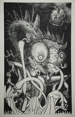 銅版画「生死」