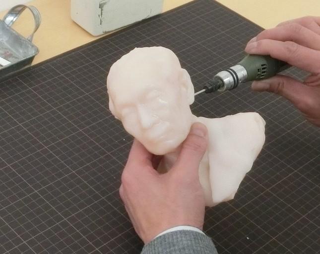 3Dプリンターで出力後の調整