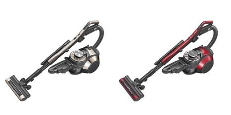 毛足の長いじゅうたんやラグマットも軽い力でしっかり掃除!(写真は左から、「EC‐VX700‐N」、「EC‐LX700‐R」)