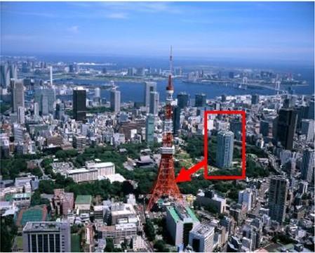 東京タワーから徒歩3分という立地