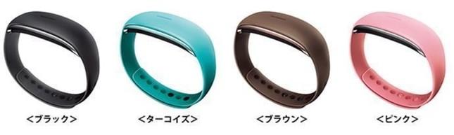 「ムーヴバンド2」は歩数、移動距離、消費カロリー、睡眠時間・状態を計測できるリストバンド型の活動量計