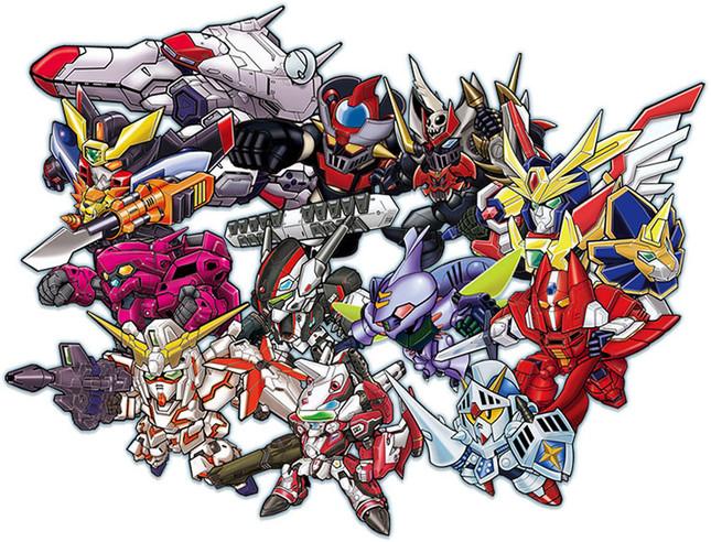 異なる世界観のロボットたちが一堂に集結