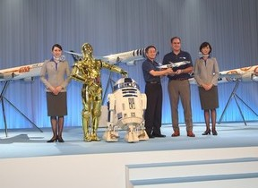 スター・ウォーズとのコラボでANA「野望」 篠辺社長「宇宙目指す航空会社に」