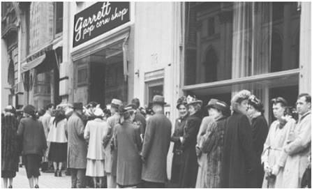 シカゴで創業した「ギャレット ポップコーン ショップス」1号店