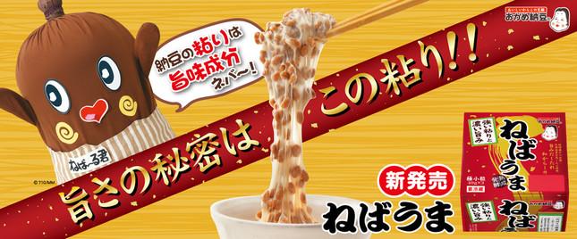 タカノフーズの「ねばうま納豆」 納豆の妖精「ねば~る君」が応援キャラクターに