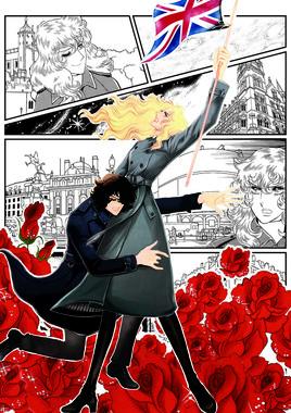 オスカルとアンドレが登場するオリジナルストーリーの漫画は12日に公開