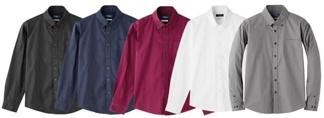 ダンプボタンダウンシャツ、ラインナップ例