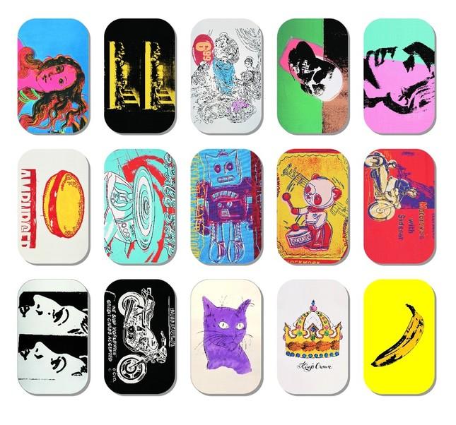 アンディ・ウォーホルのアート作品がデザインされた「味覚糖のどタブレット缶」第3弾は15種