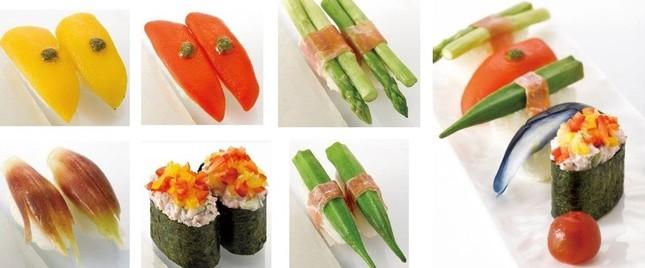 野菜の鮨も