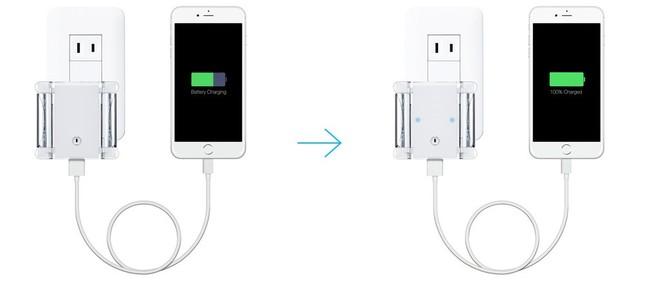 シリーズ充電(USB充電→電池充電)