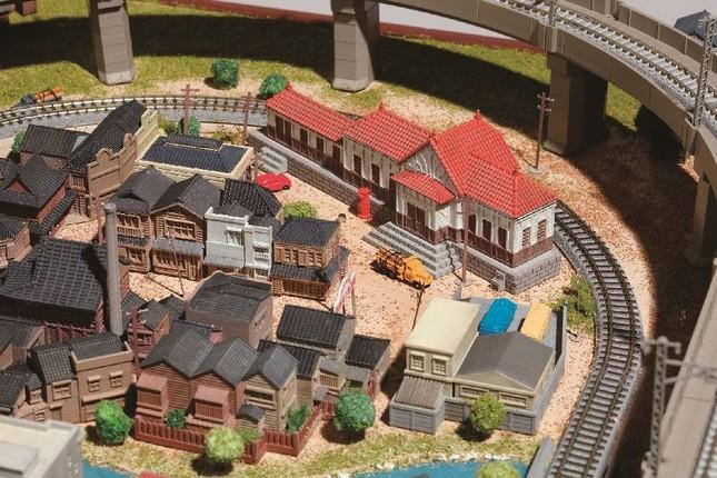 ジオラマ「下町エリア」 『下町の駅とポスト』