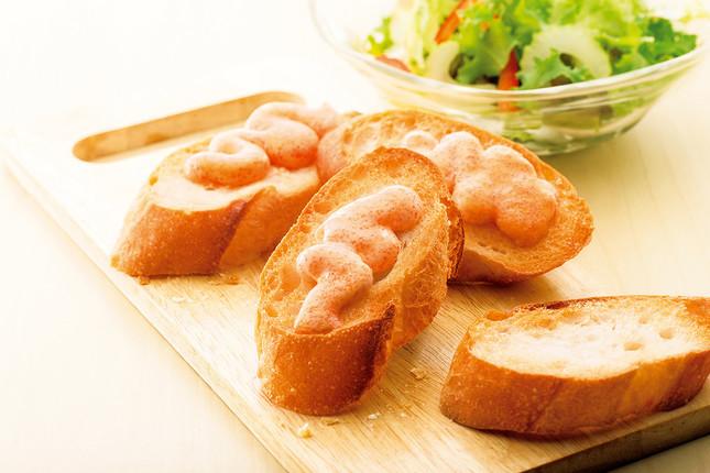 明太子バタートーストが手軽に