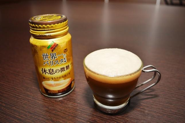 缶を振って出来るまろやかな泡立ちが絶妙にマッチする微糖缶コーヒー