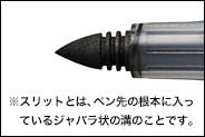 ボードにフィットする新開発のペン先