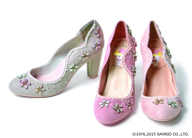 40th anniversary of flower bijoux pumps