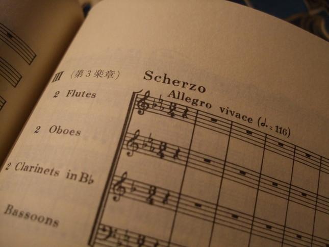 第3楽章に初めて採用された「スケルツォ」という早い形式