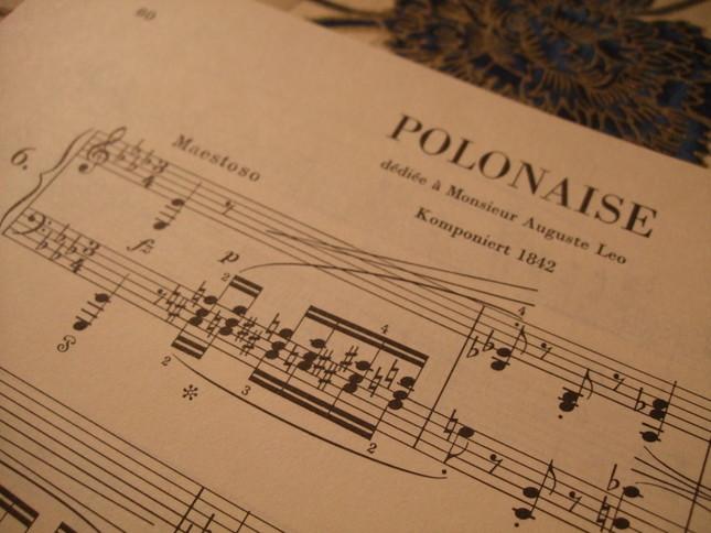 ショパンが名づけたのではない証拠。楽譜冒頭には「英雄」とどこにも書かれていない