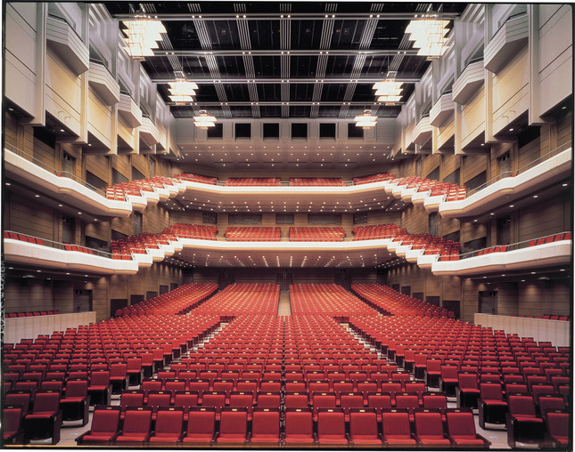 オーチャードホール 舞台から客席
