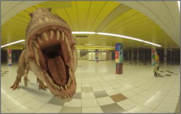 恐竜が襲ってくる!(体験イメージ)
