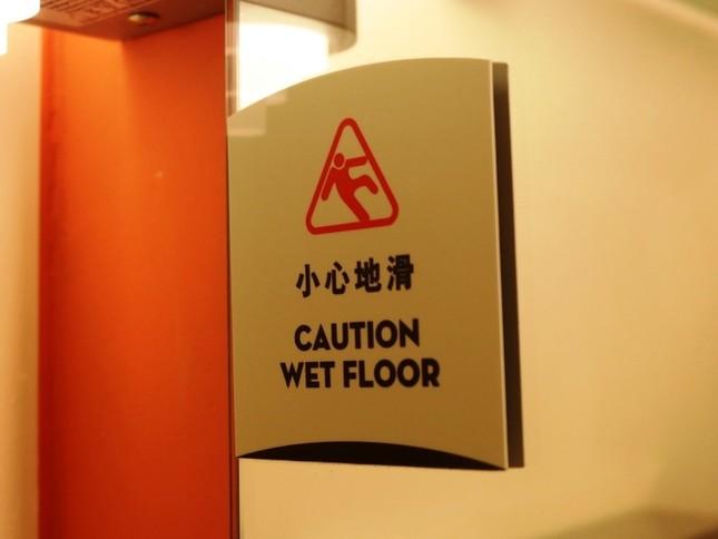 ホテルの洗面所にも