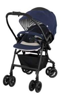 赤ちゃんの全身を衝撃や振動から守る「エッグショック」を搭載(写真は、シェリーネイビー)