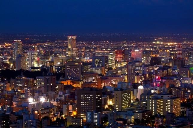 円山から眺めた札幌市街