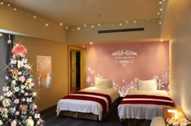 シャンパンピンクを基調とした「Sweet Christmas Room」